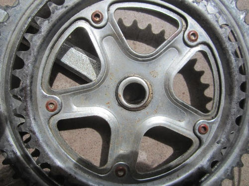 cheap pressed and riveted crank-set
