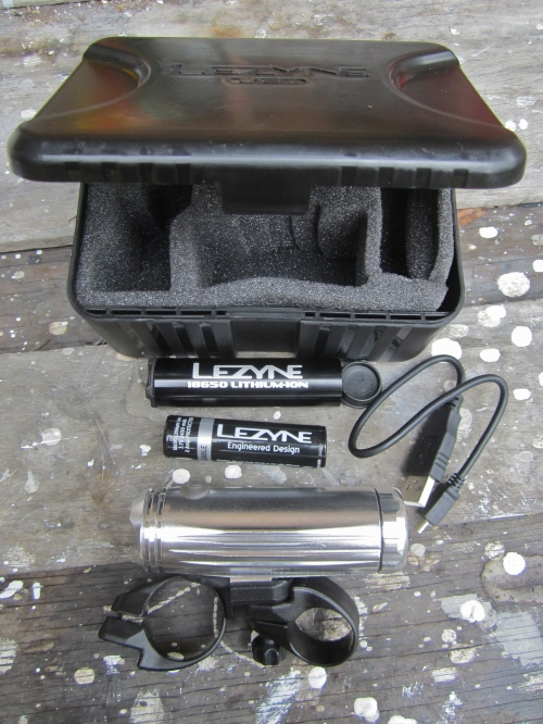 "the excellent ""loaded"" kit, with spare battery and protective cylinder"