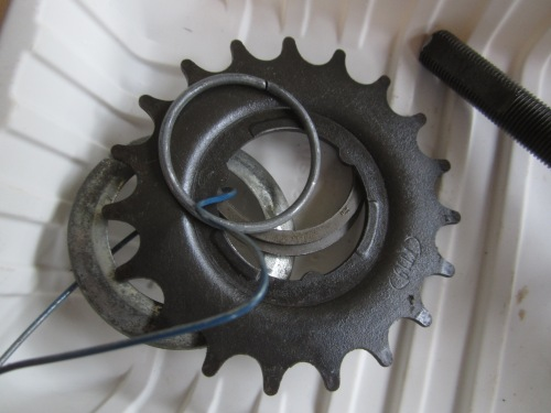 dust seal spacer, sprocket, snap ring