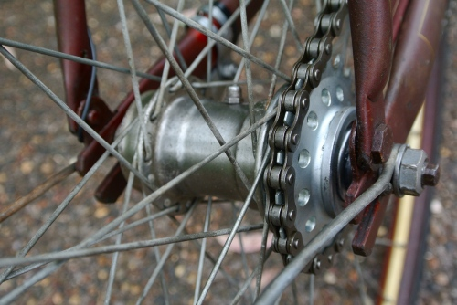 reversed surly cog & a lock ring