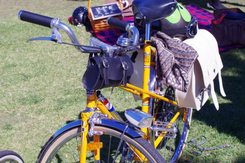 a nice peugeot mixte at the tweed ride